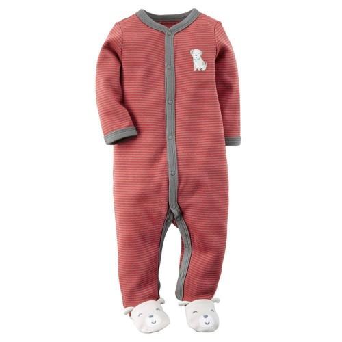 Pijama Osito Rojo y Gris Perrito