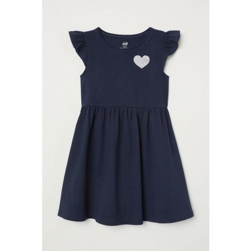 Vestido Azul con detalle de Corazon