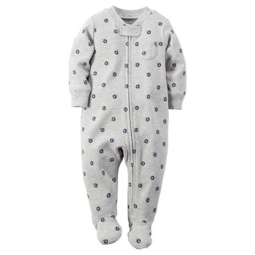 Pijama Osito Gris con Detalle Azul